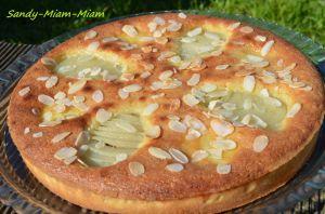 Recette Tarte amandine poires et chocolat