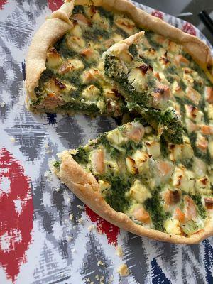 Recette Quiche épinards saumon et fêta
