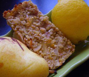 Recette Barres de céréales aux poires et citron