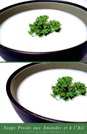 Recette Soupe: la Soupe Froide aux Amandes et à l'Ail