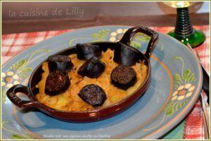 Recette Boudin noir aux oignons confits au Riesling