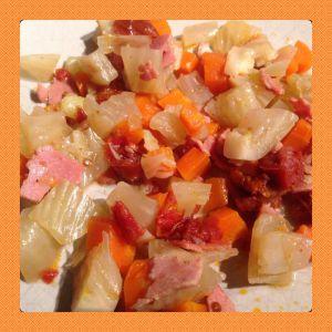 Recette Fenouil aux carottes et au jambon Cookeo