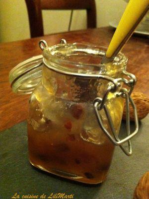 Recette Confiture de poires aux noix caramélisées