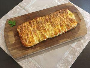 Recette Feuilleté tressé aux courgettes, jambon et mozzarella