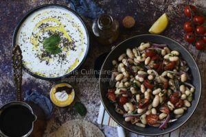 Recette Salade haricots blancs, tomate et oignons (salade turque Piyaz)