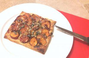 Recette Tarte fine de patates douces au gorgonzola