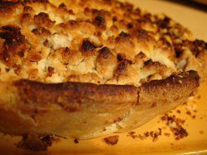 Recette Tarte crumble aux pommes et aux poires