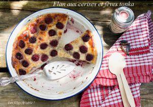 Recette Flan aux cerises et fève tonka