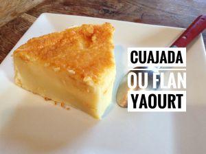 Recette Flan au yaourt et à la vanille (cuajada)