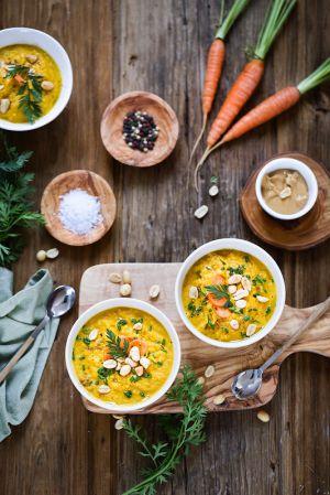 Recette Soupe de carottes au beurre de cacahouètes
