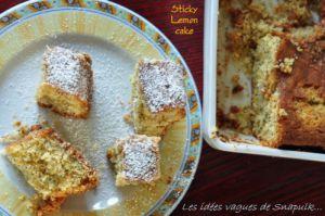 Recette Gâteau qui colle aux doigts, au citron et au pavot