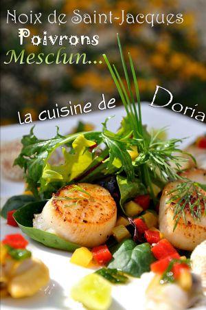 Recette Mesclun de Saint-Jacques, praires, amandes au fin vinaigre balsamique