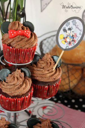 Recette Cupcake Mickey et Minnie au chocolat