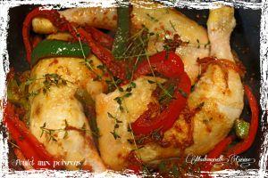 Recette Cuisses de poulet aux poivrons