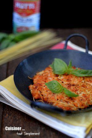 Recette Frittata de spaghettis à la Tomate