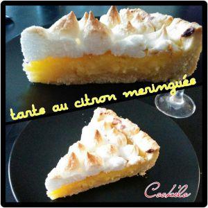 Recette Tarte au citron meringuée façon cook'elo