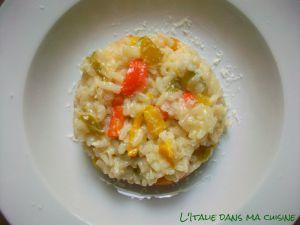 Recette Risotto aux poivrons / risotto ai peperoni