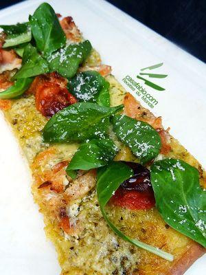 Recette Pizza saumon tomates-cerises et pesto