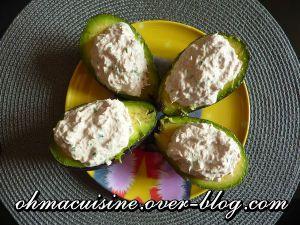 Recette Avocats au fromage frais