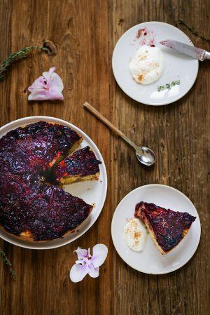 Recette Gâteau renversé aux prunes