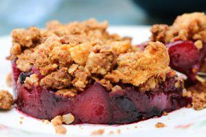 Recette Crumble pommes-myrtilles { vegan }