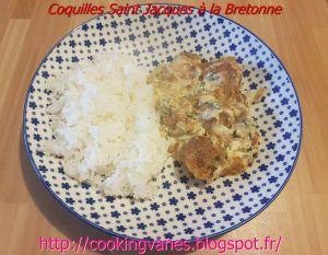 Recette Coquilles Saint Jacques à la Bretonne
