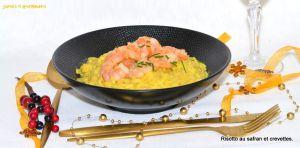 Recette Risotto au Safran et aux Crevettes ou Risotto à la Milanaise