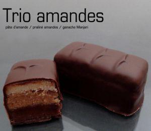 Recette Chocolats fins : trio d'amandes