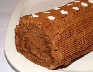 Recette Bûche au chocolat et fève tonka