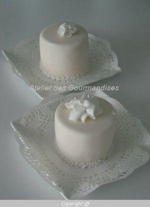 Recette Mini gâteaux dégustation en pâte à sucre