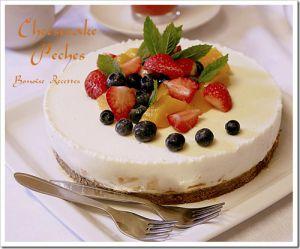 Recette Cheesecake,recettes de cheesecake, cheesecake aux peches