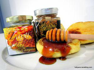 Recette Batbout au miel d'arganier et à l'amlou Délice du Maroc