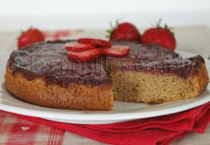Recette Gateau renversé aux fraises et amandes
