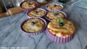 Recette Tartelettes aux pommes sans pâte à la ricotta et amande Ig bas