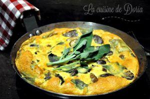 Recette Frittata aux champignons et à la sauge
