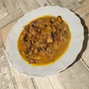 Recette Soupe de fruits de mer à l'indienne