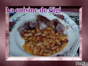 Recette Rouelle de porc aux haricots