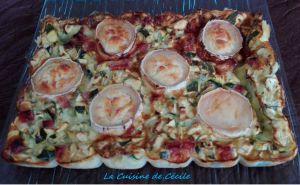 Recette Quiche sans pâte courgettes, chèvre et bacon