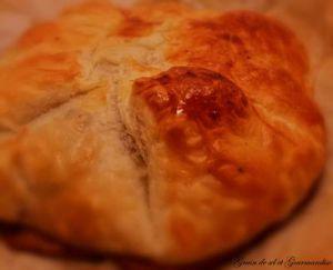 Recette Feuilleté Au Camembert-Lardons-Oignons