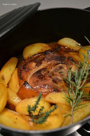 Recette Rouelle de porc au sirop d'érable en cocotte