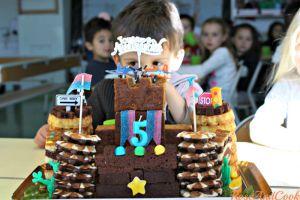 Recette Gâteau château-fort d'anniversaire pour l'école ! {quand le fait-maison est interdit}