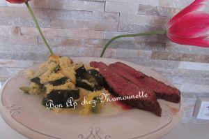 Recette Gratin de courgettes et sa côte de boeuf au barbecue