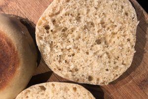 Recette Des english muffins pour le brunch. Ou pour le surf