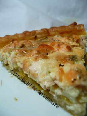 Recette Quiche au saumon et au fromage bleu