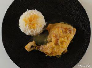 Recette Cuisse de poulet à l'orange et au curry