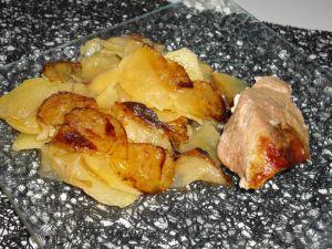 Recette Rouelle de jambon aux pommes de terre confites