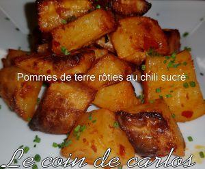 Recette Pommes de terre rôties au chili sucré