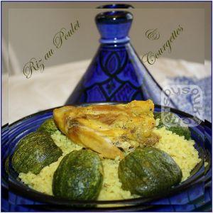 Recette Riz au Poulet et Courgettes Rondes - Cuisine Marocaine