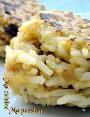 Recette Croquette de riz
