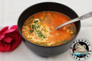 Recette Soupe de tomates aux pâtes